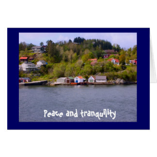 Fred och tranquility hälsningskort