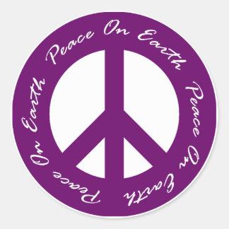 Fred på fredstecken för jordlilahelgdag runt klistermärke
