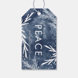 Fred på jord, juletiketter presentetikett