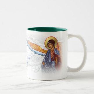 """""""Fred på jord"""" mugg med änglar"""