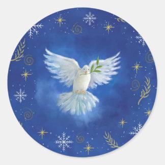 fred på jord runt klistermärke