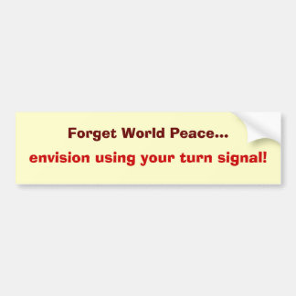 fred på vägen bildekal