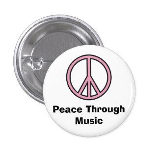 Fred till och med musik mini knapp rund 3.2 cm