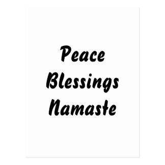 Fred välsignelser, Namaste. Svart vit Vykort