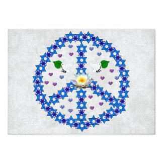 Freddavidsstjärna 12,7 X 17,8 Cm Inbjudningskort
