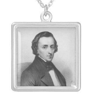 Frederic Chopin, efter Ary Scheffer Silverpläterat Halsband