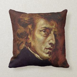 Frederic Chopin porträtt av Eugene Delacroix Kudde