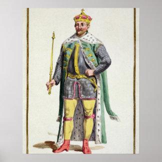 Frederick II (1534-88) kung av Danmark från 'Receu Poster