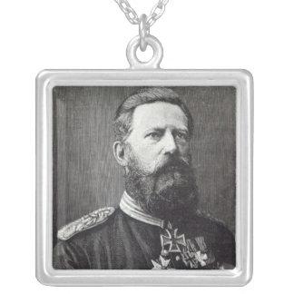 """Frederick III, från """"fritidtimme"""", 1888 Silverpläterat Halsband"""