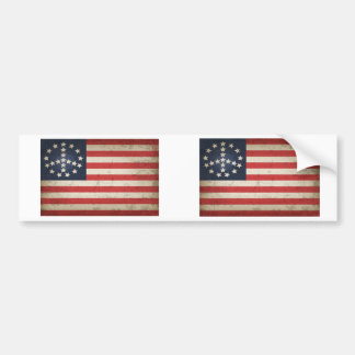 Fredflagga - xdist bildekal