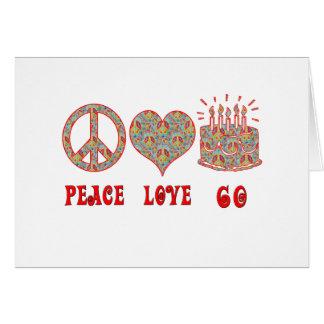 Fredkärlek 60 hälsningskort
