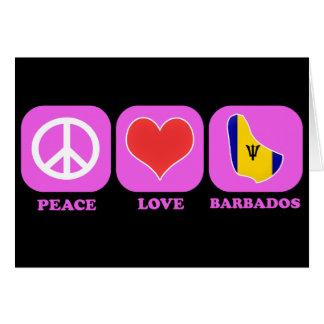 Fredkärlek Barbados Hälsningskort