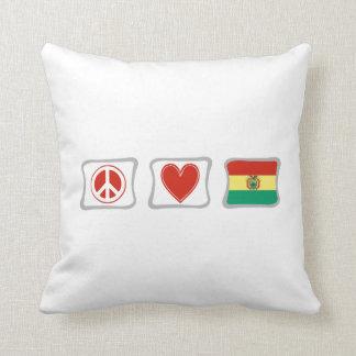 Fredkärlek och Bolivia kvadrerar Kudde