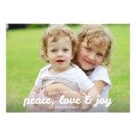 Fredkärlek- och glädjehelgdag Photocard Kort För Inbjudningar