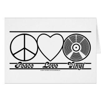 Fredkärlek och vinyl hälsningskort