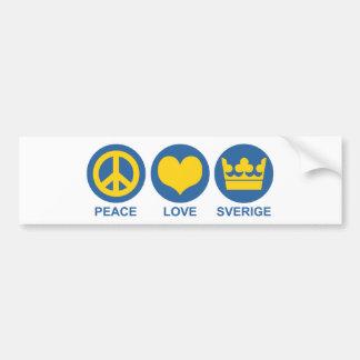 Fredkärlek Sverige Bildekal