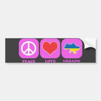 Fredkärlek Ukraina Bildekal
