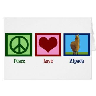 FredkärlekAlpaca Hälsningskort