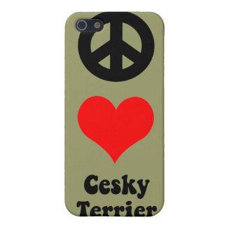 fredkärlekCesky Terrier iPhone 5 Skydd