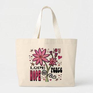 Fredkärlekhopp och blommor tygkassar