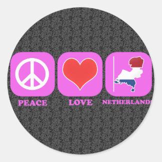 FredkärlekNederländerna Runt Klistermärke