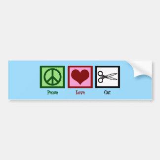 Fredkärleksnitt Bildekal