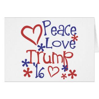 Fredkärlektrumf - Donald Trump för president Hälsningskort