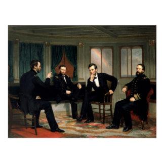 Fredsmäklarna med Abraham Lincoln Vykort