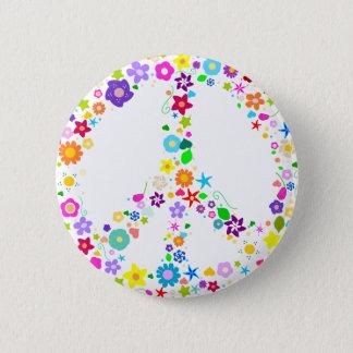 Fredstecken av blommor standard knapp rund 5.7 cm