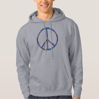 Fredstecken - fredsymbol sweatshirt med luva
