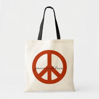 fredstecken retro hippies tygkasse