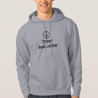 Fredstecken till och med social rättvisa tröja med luva