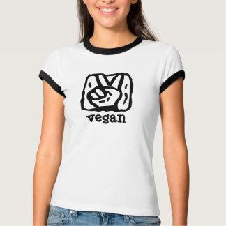 Fredsteckenet räcker V för Vegan T Shirts