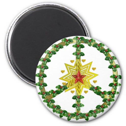 Fredstjärnajul Kylskåps Magneter