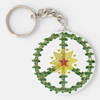 Fredstjärnajul Rund Nyckelring