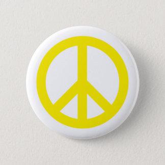 Fredsymbol - gult standard knapp rund 5.7 cm