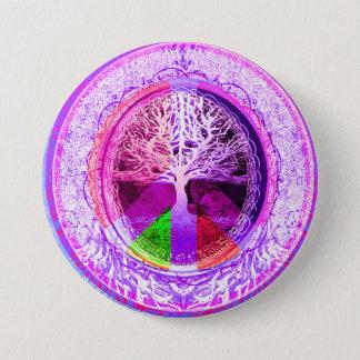 Fredsymbol i regnbågefärger mellanstor knapp rund 7.6 cm