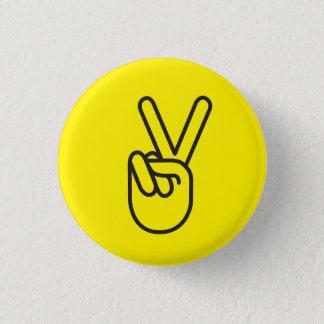 Fredsymbol Mini Knapp Rund 3.2 Cm