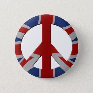 Fredsymbol och facklig jack standard knapp rund 5.7 cm