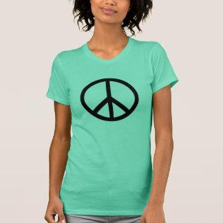 Fredsymbolkvinna t-skjorta t-shirts