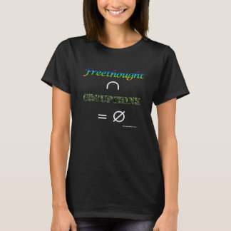Freethought-/Groupthinkkvinna svart för snitt T Shirts