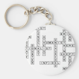 Freethought korsord rund nyckelring