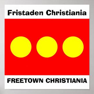 Freetown Christiania flagga Poster