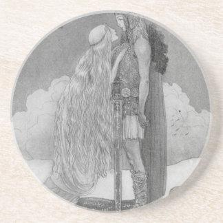 Freja och Svipdag av John Bauer Underlägg Sandsten