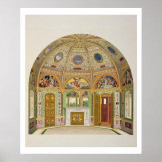 Frescodekoration i sommarhuset av Buckingha Poster