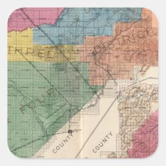 Fresno County Kalifornien 31 Fyrkantigt Klistermärke