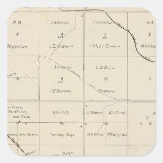 Fresno County Kalifornien 33 Fyrkantigt Klistermärke