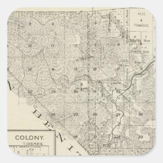 Fresno County Kalifornien 3 Fyrkantigt Klistermärke