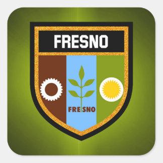 Fresno flagga fyrkantigt klistermärke