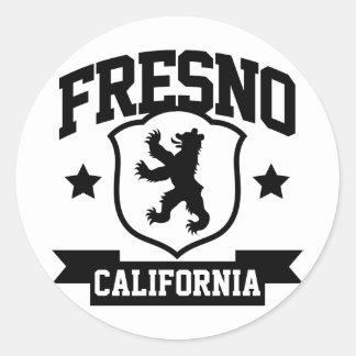 Fresno heraldik runt klistermärke